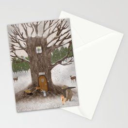 merry berry wood Stationery Cards