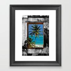WINDOW ON PARADISE Framed Art Print