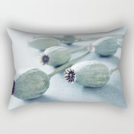 Poppy seed capsule Rectangular Pillow