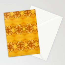 Golden Hibiscus Abstract Pattern Stationery Cards