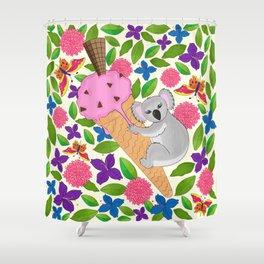 Koala Bear in Summer Shower Curtain