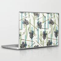 knight Laptop & iPad Skins featuring The Knight by Paula Belle Flores