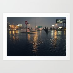 Flooding Art Print