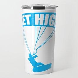 funny kite surfing get high Travel Mug