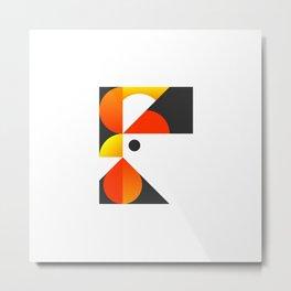Cubist Rooster Metal Print