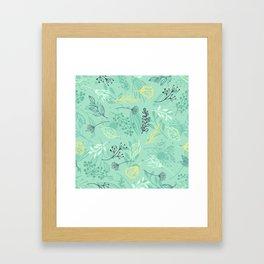 Pattern Beautiful flowers Framed Art Print
