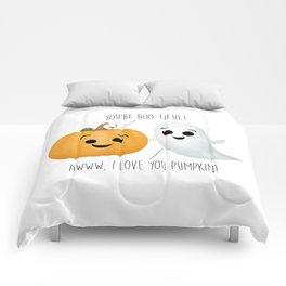 Boo-tiful Couple | Pumpkin & Ghost Comforters