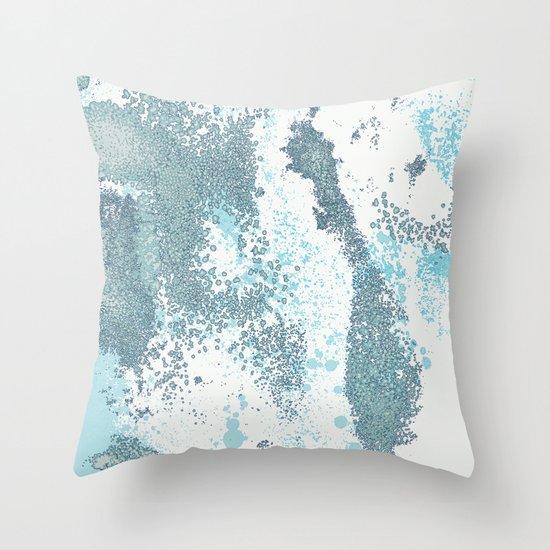 Aqua Sprawl Throw Pillow