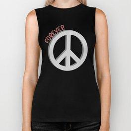 Forever peace symbol Biker Tank