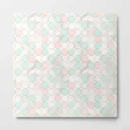 Pastel Color Pattern Metal Print