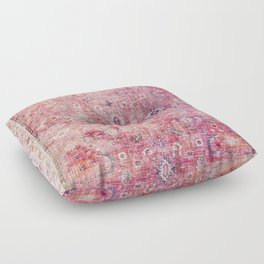N45 - Pink Vintage Traditional Moroccan Boho & Farmhouse Style Artwork. Floor Pillow