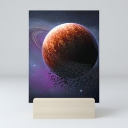 Planet In The Space Mini Art Print