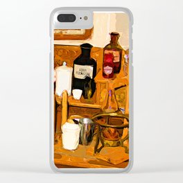 Old pharmacy Clear iPhone Case