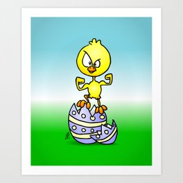 Easter Chick Art Print