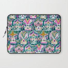 CARPE DIEM SKULLS - EMERALD Laptop Sleeve