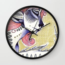 Red Deer Wall Clock