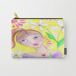 Blue Eyed Beauty Carry-All Pouch