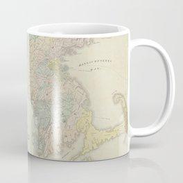 Vintage Geological Map of Massachusetts (1841) Coffee Mug