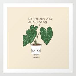 Plant talk Art Print
