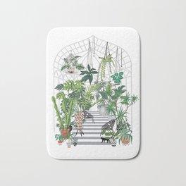 greenhouse illustration Bath Mat