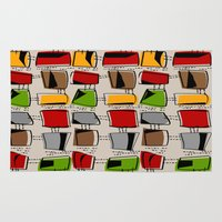 mid century Area & Throw Rugs featuring Mid-Century Abstract #77 by Kippygirl