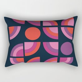 Outta Sight - 70s retro throwback trendy vintage style geometric 1970's Rectangular Pillow