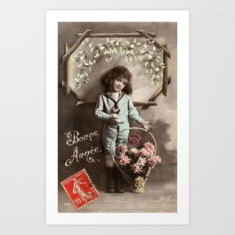 The Boy in the Sailor Suit Art Print