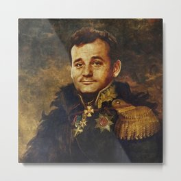 Portrait of Bill Murray Metal Print
