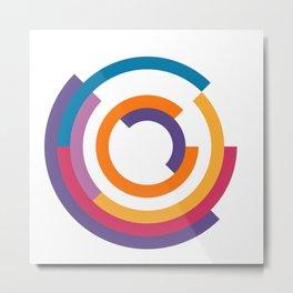 Bauhaus inspired design in a ultraviolet palette Metal Print