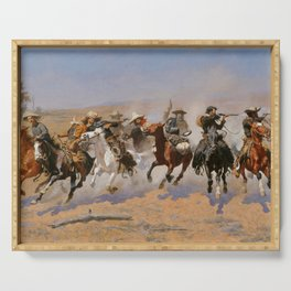 A Dash for the Timber - Frederic Remington Serving Tray