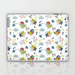 winter birds pattern Laptop & iPad Skin
