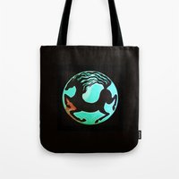 horse Tote Bags featuring Horse by Abundance