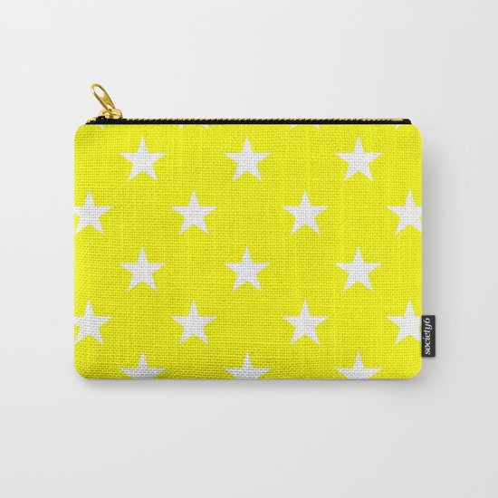 Stars (White/Yellow) Carry-All Pouch