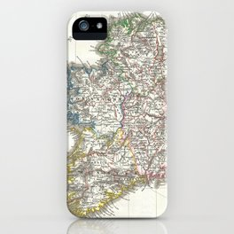Vintage Map of Ireland (1841) iPhone Case