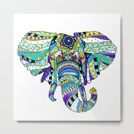 Éléphant royal Metal Print
