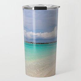 Catamaran on deserted white sand beach Travel Mug