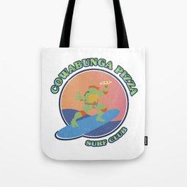 Ninja Turtles COWABUNGA PIZZA SURF CLUB Tote Bag