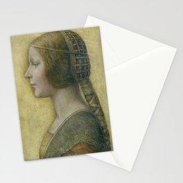 Golden woman - Leonard Da Vinci Stationery Cards