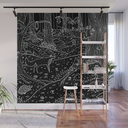 Nocturnal Animals of the Forest Wall Mural