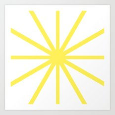 Yellow Clock Art Print