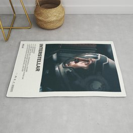 "Interstellar "" do not go gentle into that good night "" sci-fi movie poster Rug"