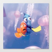 finding nemo Canvas Prints featuring Finding Nemo by Max Jones