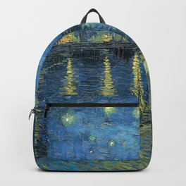 Van Gogh Starry Night Over the Rhone Backpack
