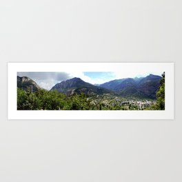 Ouray - At the Mouth of the Uncompahgre Gorge Art Print