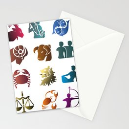 Astrology Of Life In All Colors And Forms Stationery Cards