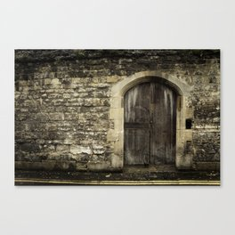 Oxford Wall - Vintage England Canvas Print