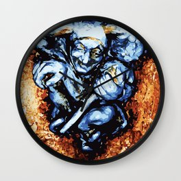 Court Jester in Colour Wall Clock