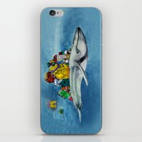 the whale iPhone & iPod Skins featuring whale by Кaterina Кalinich