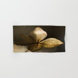 Autumn Scene - Dry Petals with Golden Sunset Light #decor #society6 #buyart Hand & Bath Towel