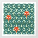 Seamless pattern with foxes and wolves by mrs_opossum